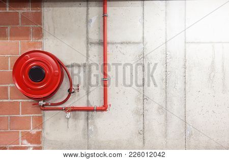 In The Technical Area, There Is An Fire Hose In The Basement
