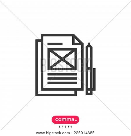 Dpcument  Icon Isolated On White Background. Document Icon Modern Symbol For Graphic And Web Design.