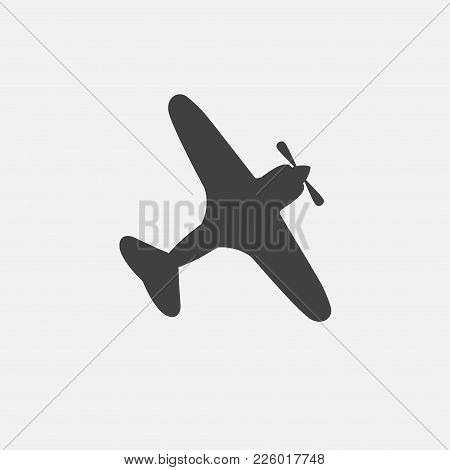 Plane Icon Vector Illustration. War Plane Icon Vector.
