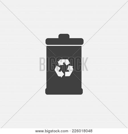 Recycle Bin Icon Vector Illustration. Delete Icon Vector.