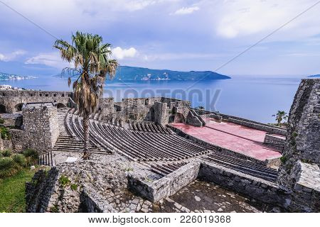 Herceg Novi, Montenegro - May 24, 2017: Bloody Tower Fortress In Herceg Novi Coastal Town At The Ent