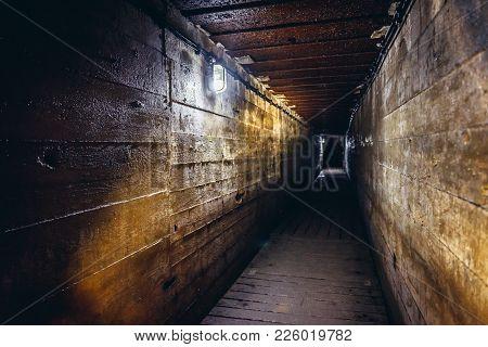 Mamerki, Poland - August 23, 2017: Inside The Mamerki Complex In Poland, Bunkers Of Oberkommando Des