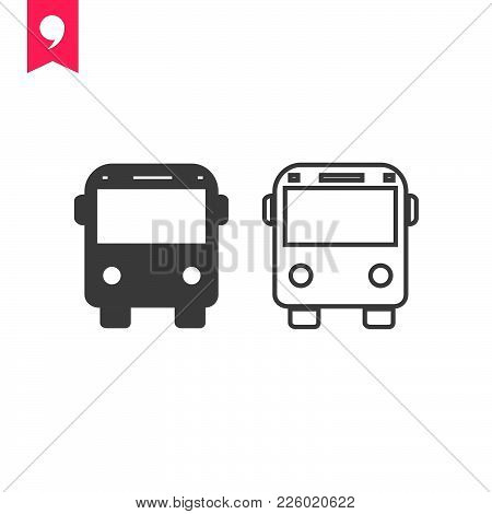 Bus  Icon Isolated On White Background. Bus Icon Modern Symbol For Graphic And Web Design. Bus Icon