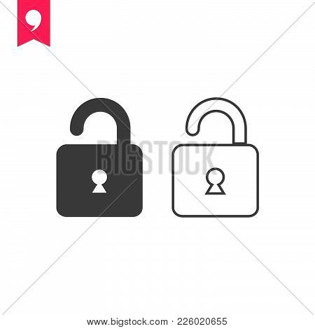 Lock  Icon Isolated On White Background. Lock Icon Modern Symbol For Graphic And Web Design. Lock Ic
