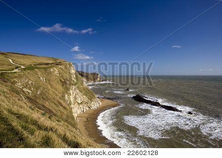 Jurassic Coastline in Dorset, England