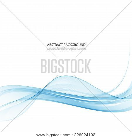 Transparent Blue Abstract Wave On White Background.blue Background Vector Waves