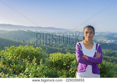 The Girl From Jinghong Village In Morning Freshness
