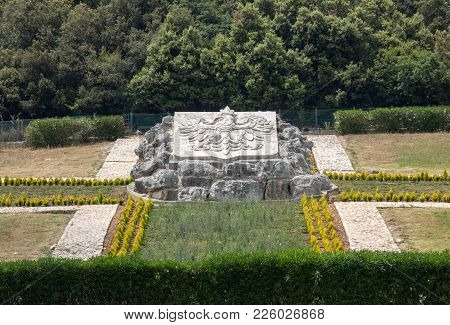 Montecassino, Italy - June 17, 2017: Polish War Cemetery At Monte Cassino - A Necropolis Of Polish S