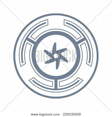 Vector Symbol: The Strophalos, Or Hecate's Wheel, Ancient Greek Symbol, And An Emblem Of The Initiat
