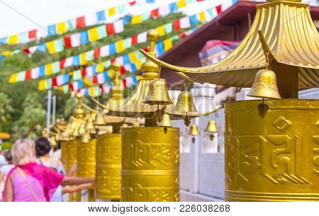 Decoration In The Buddhist Temple In China, Sanya