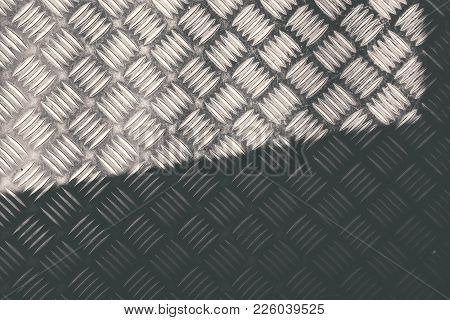 Old Structural Steel Chequered Steel Sheet  Texture And Background  Iron Pump Tear Drop Pattern With