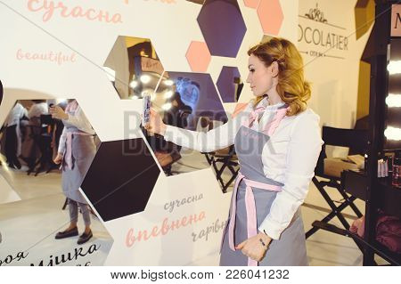 Mary Kay Stand To A Young Woman At The Ukrainian Fashion Week