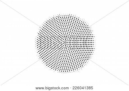 Black And White Dotted Texture. Centered Halftone Vector Background. Subtle Dotted Gradient. Abstrac