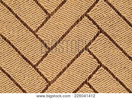 Hand Tied Intricate Pattern Woven Knotted Sisal Three Dimensional Rug Detail.