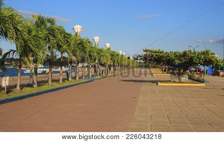 Baywalk Of Puerto Princesa City. Palawan Island. Philippines.