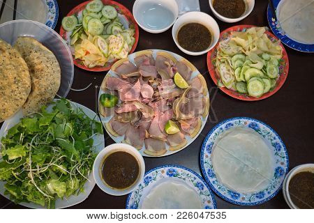 Cau Mong Barbequed Veal Is As Famous As Quang Noodle In Da Nang And Quang Nam, Vietnam. It Is Also C