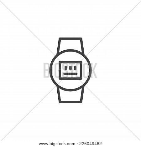 Electric Meter Line Icon, Outline Vector Sign, Linear Style Pictogram Isolated On White. Symbol, Log