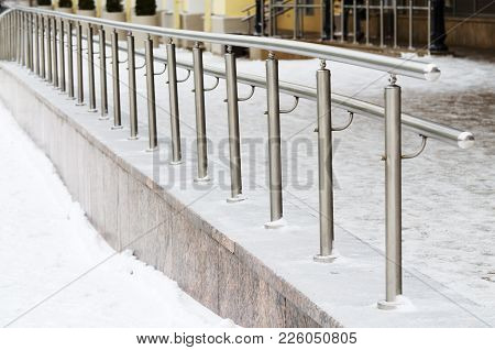 Metal Railings For Pedestrians.it Protects People From Falling.