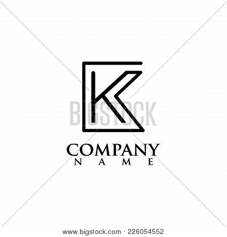 Business Corporate Letter K Swoosh Logo Design Template. Simple And Clean Flat Design Of Letter K Lo