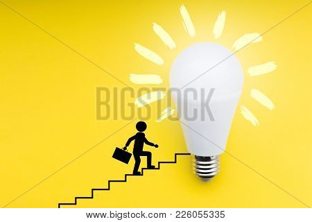 Light Bulb, Concept Of Idea In Business