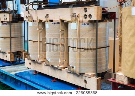 Internal Active Parts (core And Coils) Of Transformer