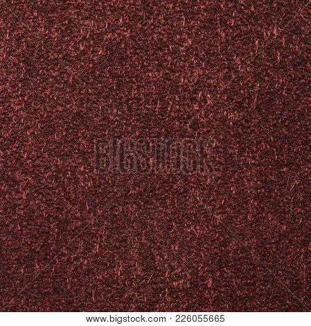 Background Texture Of The Reverse Side Of A Piece Of Natural Leather Brown Color