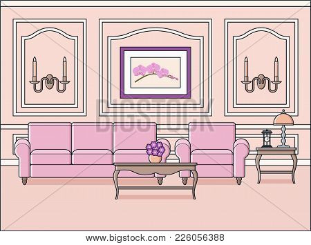 Living Room Interior. Vector. Room Vector & Photo | Bigstock