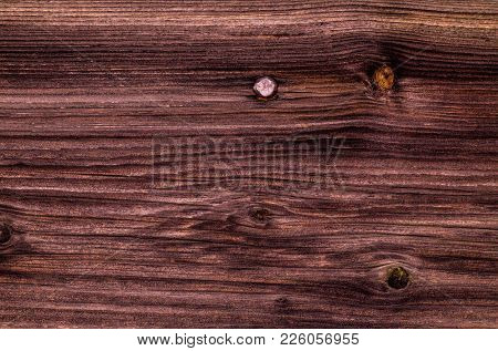Wooden Background. Old Wood Board Surface. 19th Century. Unpainted Wood. Boards, Darkened By Time. B