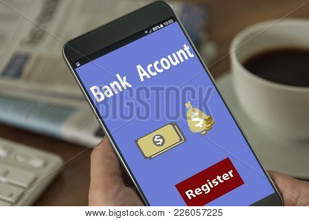 Deposit / Savings Bank To Open A Bank Account Online Financial Concepts.