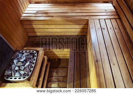 Interior Wooden Sauna Room