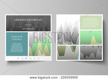 The Minimalistic Vector Illustration Of The Editable Layout Of Two Square Format Covers Design Templ