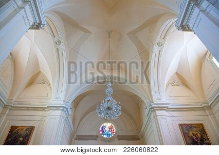 Santa Maria Di Leuca, Italy - August 27, 2006: The Nave Of The Sanctuary Of St. Mary Of Finibus Terr