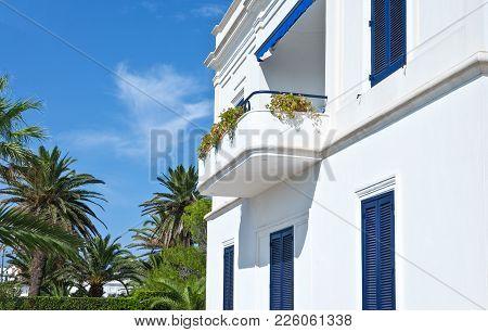 Santa Maria Di Leuca, Italy, A Villa Of The Early Twentieth Century, On The Seafront