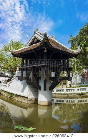One Pillar Pagoda In Hanoi, Vietnam. One Of Beauty-spots In Hanoi, The One-pillar Pagoda Is A Popula