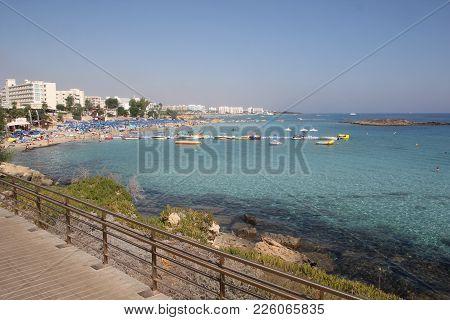 Protaras. Tourist Beach Resort Town In Cyprus.