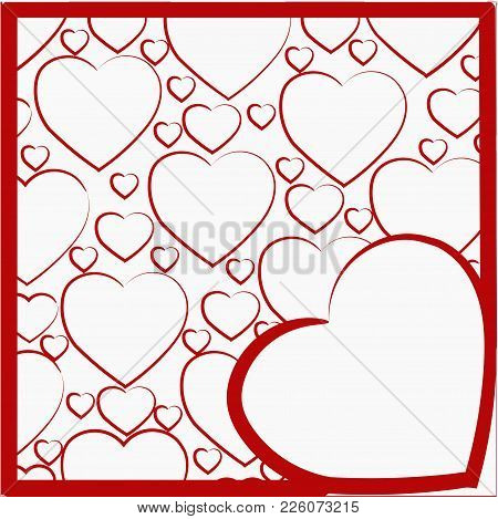 A Pattern Of Hearts With A Heart In The Foreground