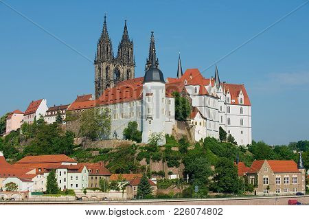 Meissen, Germany - May 22, 2010: View To The Albrechtsburg Castle And Meissen Cathedral In Meissen,
