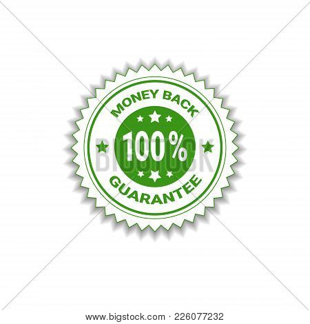 Money Back Guarantee 100 Percents Label Template Isolated Vector Illustration