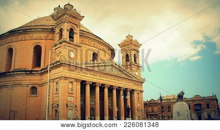 Mosta, Malta - The Church Of The Assumption Of Our Lady, Commonly Known As The Rotunda Of Mosta Or M