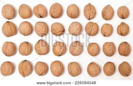 Walnuts On White