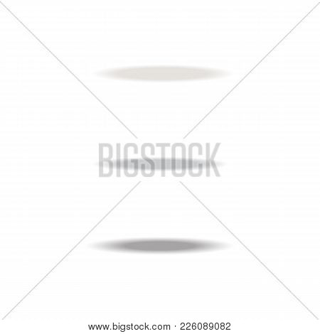 Oval Shadow For Tab Dividers Isolated On White Vector Set