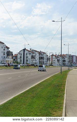 Russia, Sochi, Krasnodar Region-june 06.2017: New Microdistrict Of Low-rise Buildings In The Imereti