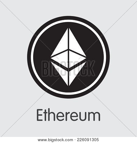 Ethereum - Cryptocurrency Concept. Vector Colored Logo Of Ethereum. Digital Currency Simbol. Vector