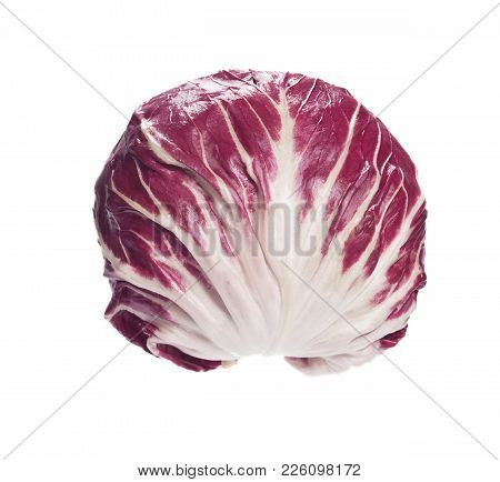 Contrasty Radicchio Salad In Full Size. High Resolution Photo.