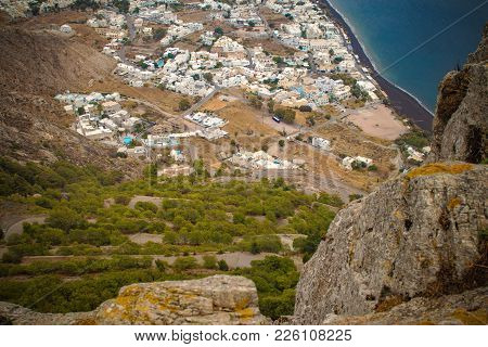 Santorini From Above. View From Ancient Thera