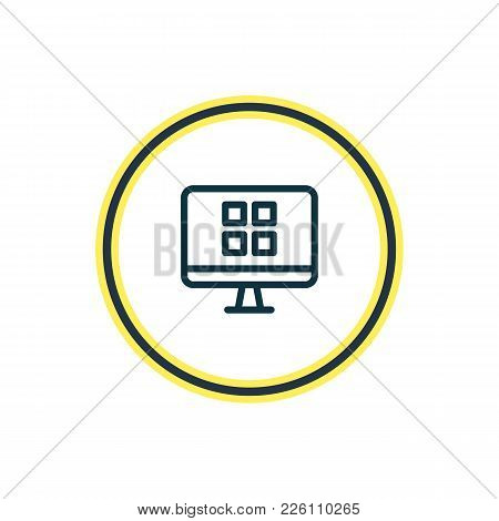 Vector Illustration Of System Icon Line. Beautiful Web Element Also Can Be Used As Os Client Icon El