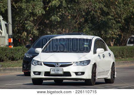 Chiang Mai, Thailand -january 9 2018: Private Sedan Car From Honda Automobil, Honda Civic. On Road N
