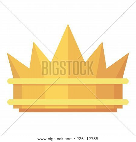 Crown Icon. Flat Illustration Of Crown Vector Icon For Web