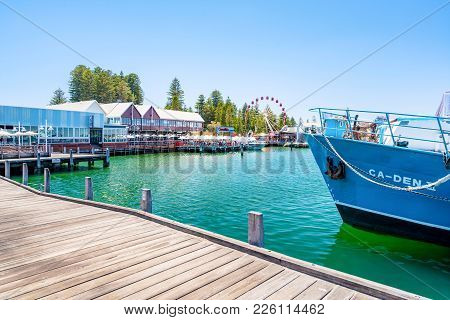 Fishing Boat Harbour Is A Popular Destination For Tourists And Locals Alike In Fremantle, Perth, Wes