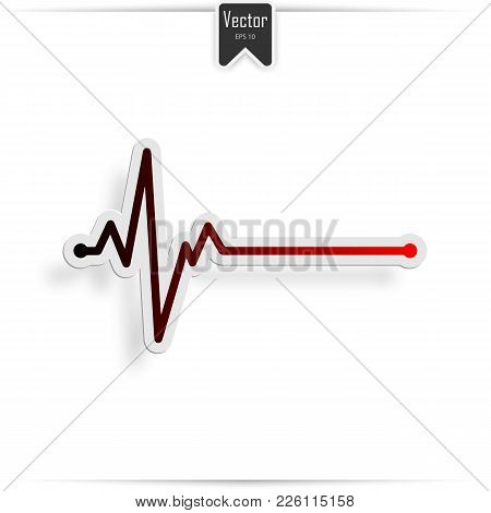 Heart Beat Line, Ekg Death Die. Pulse, Vector